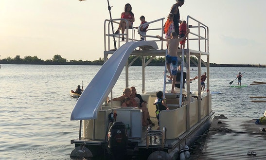 12 Person Two-story Pontoon Rental W/ Slide In New Orleans