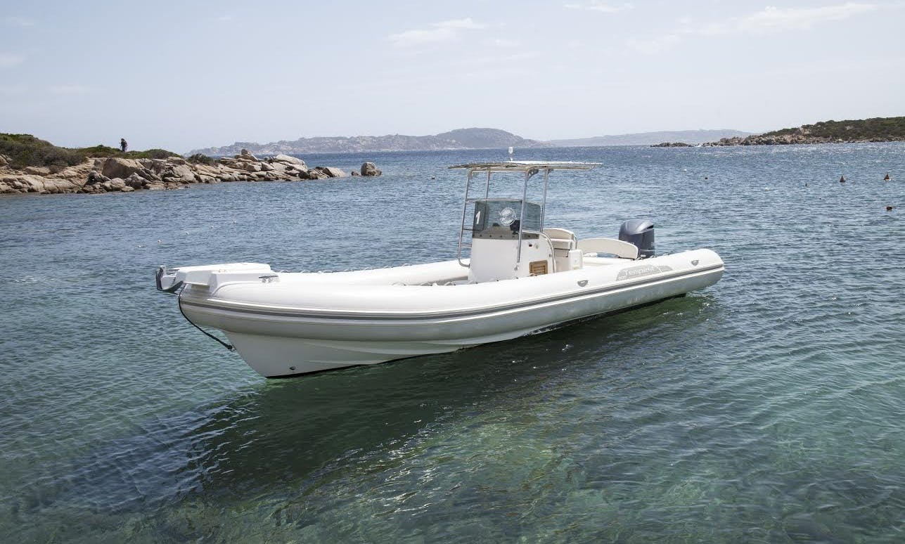 Discover Wonderful Sea of ​​Sardinia on 30' Capelli Tempest RIB