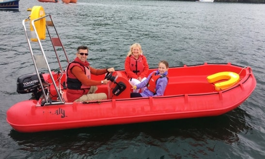 Explore Fowey Harbor On A Wheeled Steering Open Boat Hire