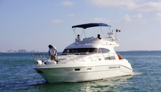 Dreamer - 47' Sealine Motor Yacht Charter In Cancún, Mexico For 10 Persons