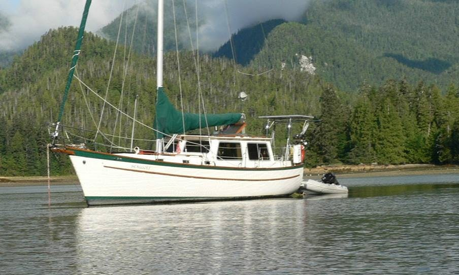 "Experience the Wildness of the Great Bear Rainforest from our Spacious Pilothouse Sailboat Classic 39ft Cooper ""Seawolf"""