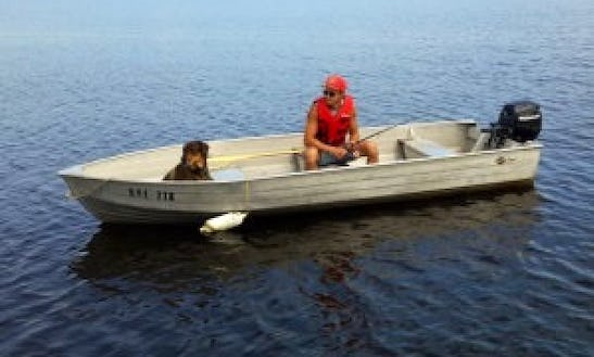 Rent 14' Fishing Boat With 9.9 Hp 4-stroke Motor In Dunrobin, Ontario