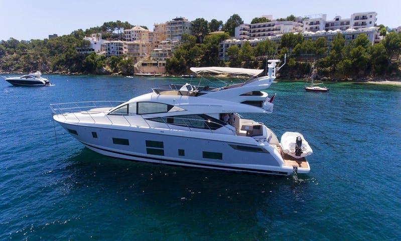 Explore The Bays Of Mallorca on 65' Pearl Power Mega Yacht