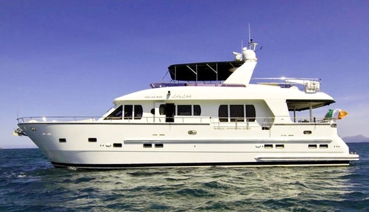 Perfect For Exploring The Northern Bays Of Mallorca On 70' Trader Power Mega Yacht Charter