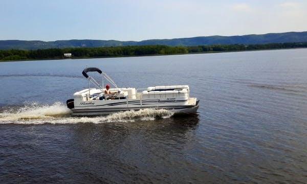 Rent 24' Bentley Pontoon Boat at Port of Call Marina, Dunrobin Ontario