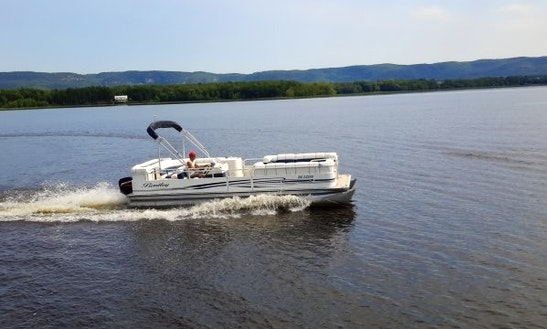 Rent 24' Bentley Pontoon Boat At Port Of Call Marina, Dunrobin Ontario