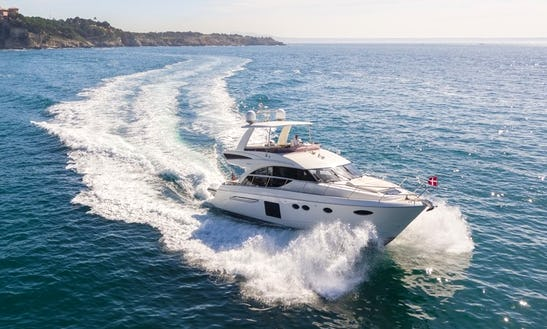 Explore The Water Of Palma, Spain On This Luxury 60' Princess Power Mega Yacht