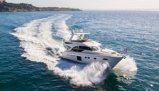 Explore The Water Of Palma, Spain On This Luxury 60' Princess Power Mega Yacht