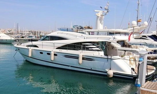58' Fairline Squadron Power Mega Yacht Charter In Palma, Spain For 11 Persons