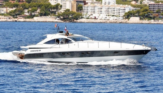 54' Pershing Power Mega Yacht Charter For 6 Persons In Mallorca, Spain