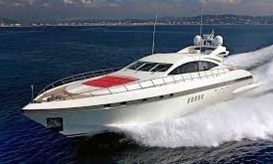 Charter This 9 Person Luxury 92' Mangusta Power Mega Yacht In Mallorca, Spain