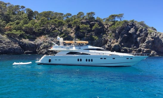 74' Fairline Squadron Power Mega Yacht Charter In Mallorca, Spain For 8 Persons