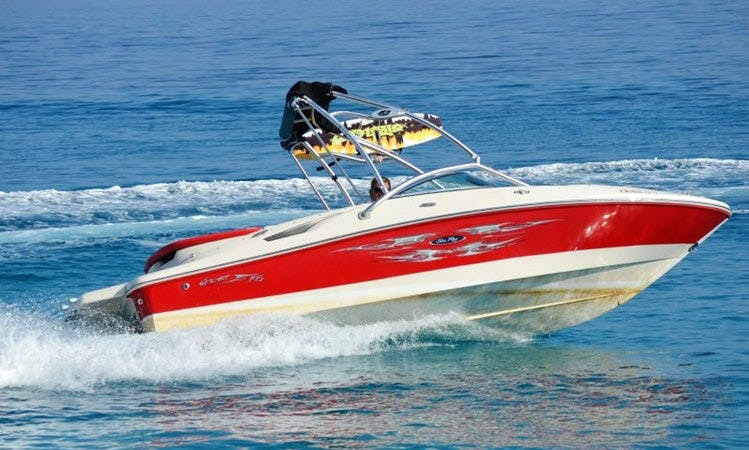 SeaRay 195, Speed Boat Rental, available in all Ionian Islands