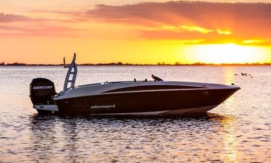 Rent 16' Bayliner E5 Deck Boat At Port Of Pollensa, Balears