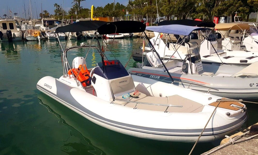 Explore Port of Alcudia on this Grand 500 G RIB