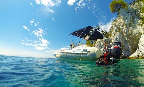 Rib Diving & Snorkeling Trips In Skopelos Island, N. Sporades, Greece