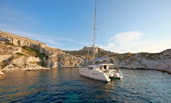 Experience The Thrill Of Sailing On 40' Lagoon Cruising Catamaran In Sant Antoni De Portmany, Spain