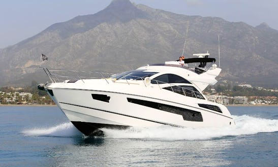 Charter This 68' Sunseeker Power Mega Yacht In Marbella, Andalucía For 12 People