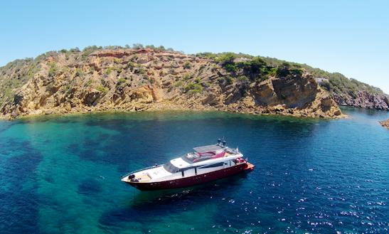 Luxury 98' Figi Power Mega Yacht In Eivissa, Spain For Charter