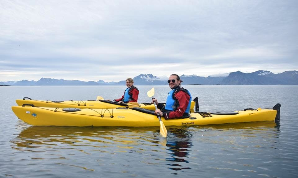 Hit the water of Nordland in Norway like never before on a Kayak with your best pal