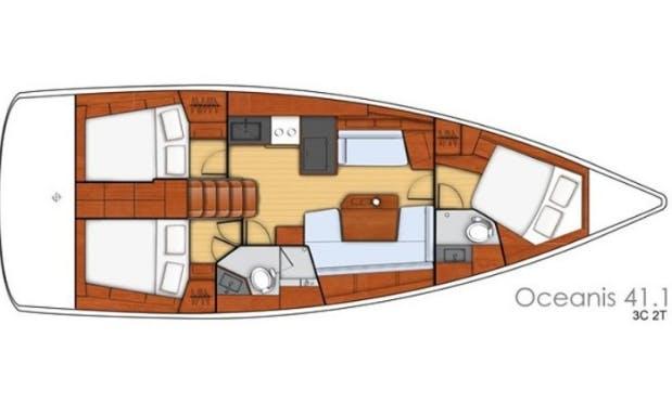 41' Oceanis - Buga Cruising Monohull Charter in Sukošan, Croatia