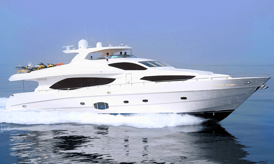 An Amazing Charter Experience Of 101' Gulf Craft Power Mega Yacht In Dubai, United Arab Emirates
