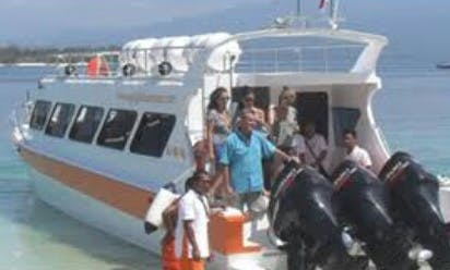 Explore the amazing views views around in Kuta, Bali aboard this elagant speed boat