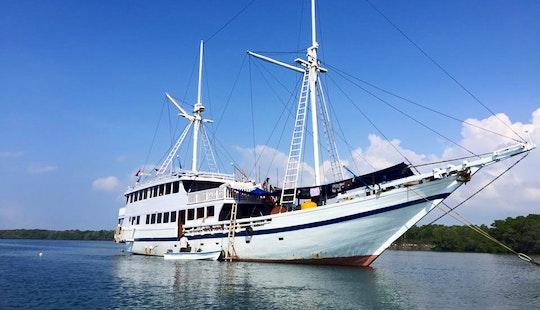Cruise Along The Coast Of Nusapenida, Bali With This 121' Bidadari Sailing Mega Yacht