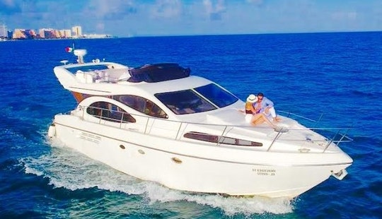 48 Ft Azimut Power Mega Yacht Charter In Cancún, Quintana Roo