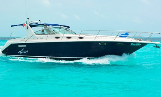 Enjoy Fishing With Friend On This 38' Motor Yacht In Cancún, Mexico For 10 Persons