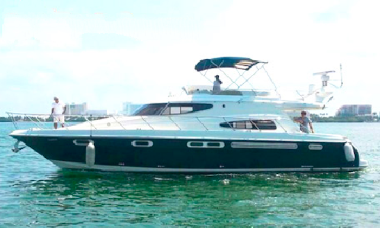 Explore Cancun, Mexico On This 55' Sealine Power Mega Yacht For Charter