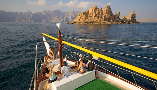 Wooden Boat Double Deck Fishing & Cruising Charter In Dibba Oman