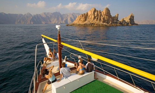 Wooden Boat Double Deck Fishing & Cruising Charter In Dibba Oman