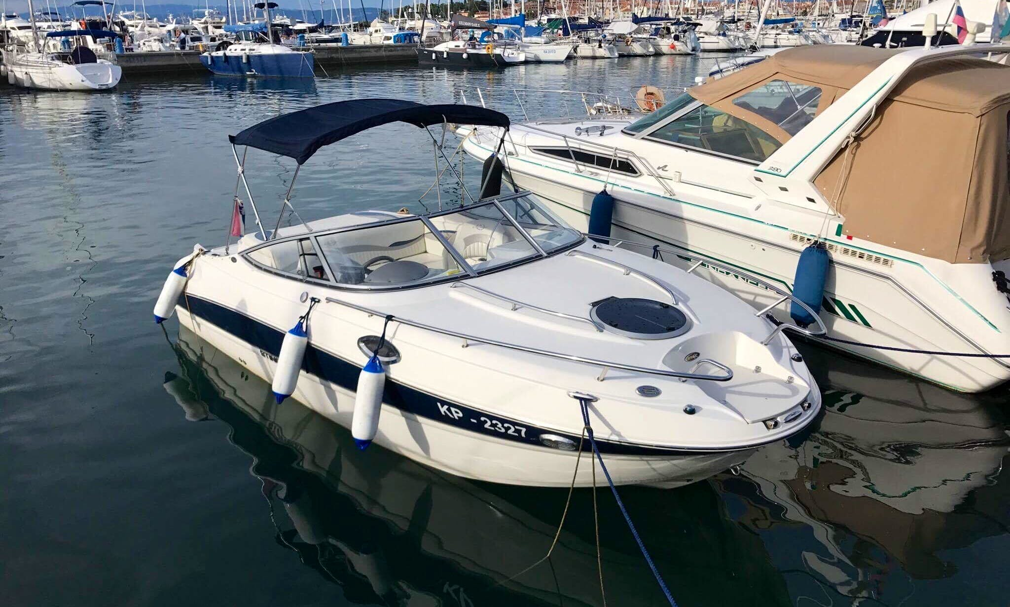 22' Stingray 215CR Cuddy Cabin Rental in Portorož, Slovenia