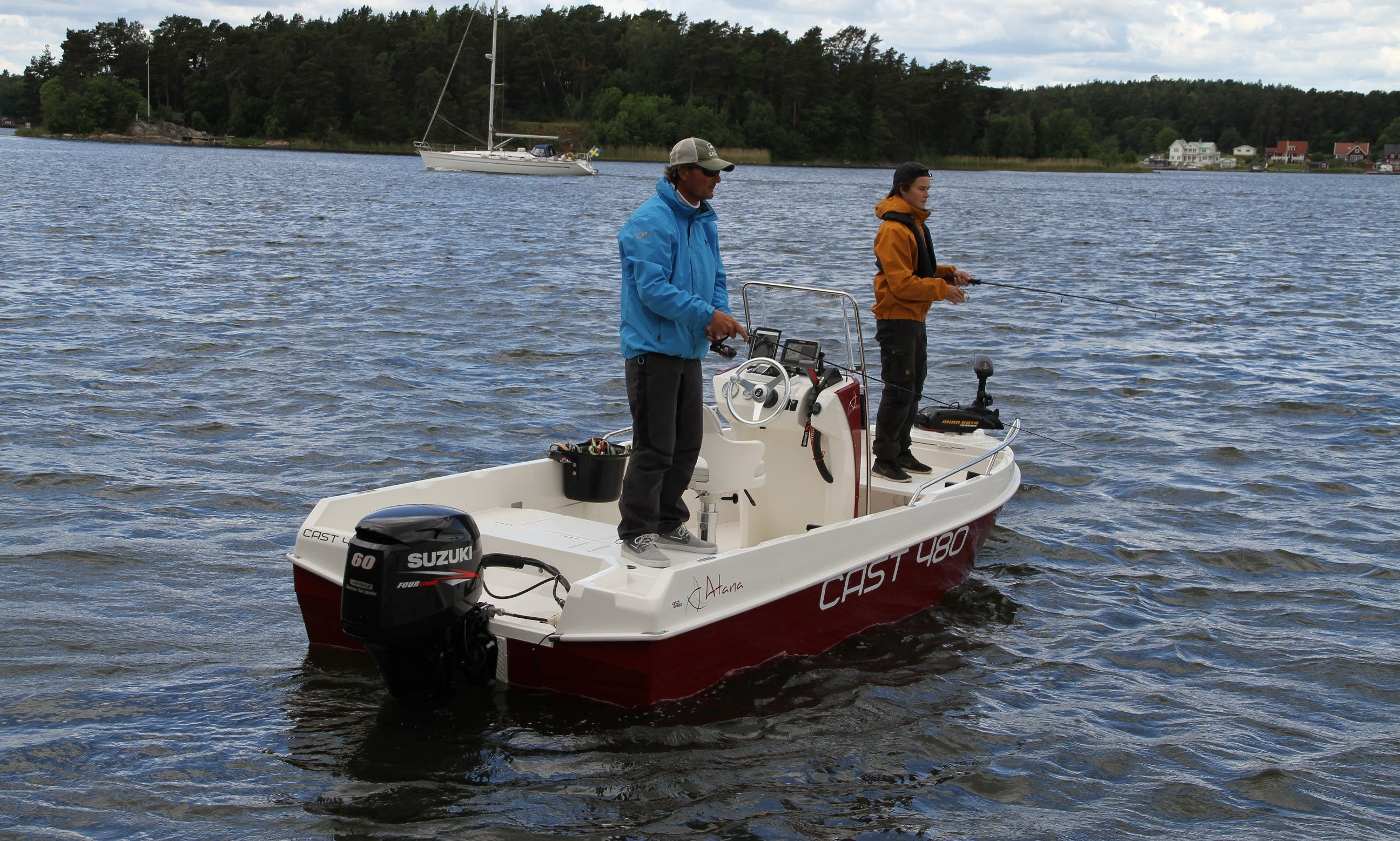 Enjoy Fishing in Vaxholm, Stockholms on Atana CAST 480 Center Console