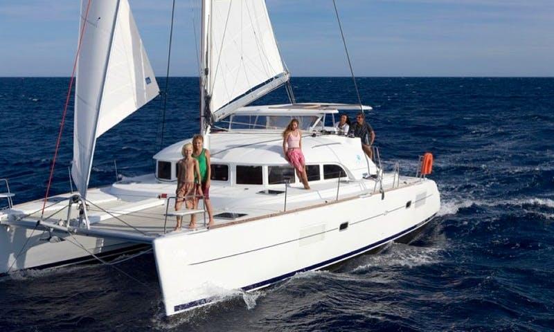 An amazing rental experience on Lagoon 38 Cruising Catamaran in Vibo Marina, Calabria