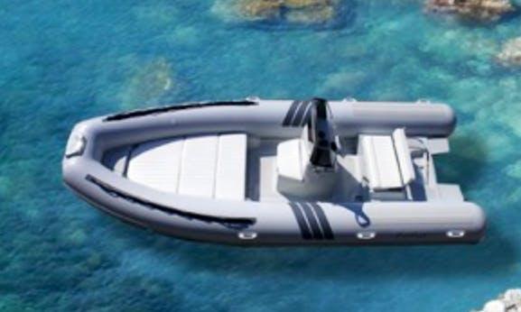 6 person Rigid Inflatable Boat Rental in Vibo Marina, Calabria
