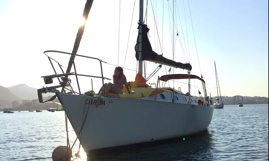 Sunset Sailing Tour in Rio de Janeiro, Brazil on this Velamar Sailing Yacht