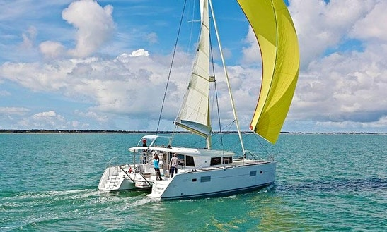 Enjoy Sailing With Your Family And Friends On This 10 Persons Lagoon 400 Cruising Catamaran In Paleo Faliro, Greece