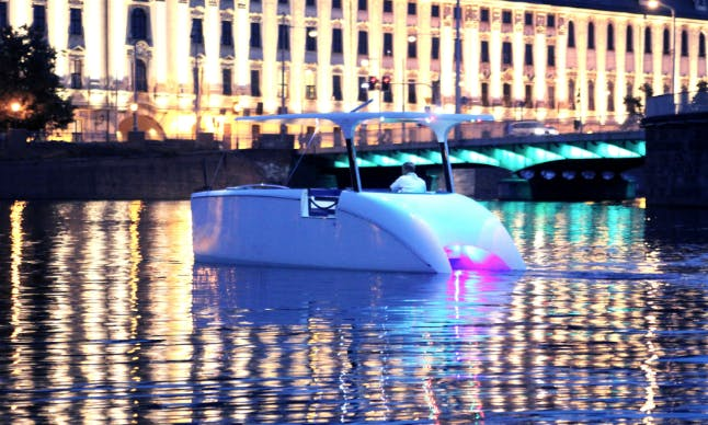 Charter this eco-friendly Power Catamaran in Täby, Stockholms