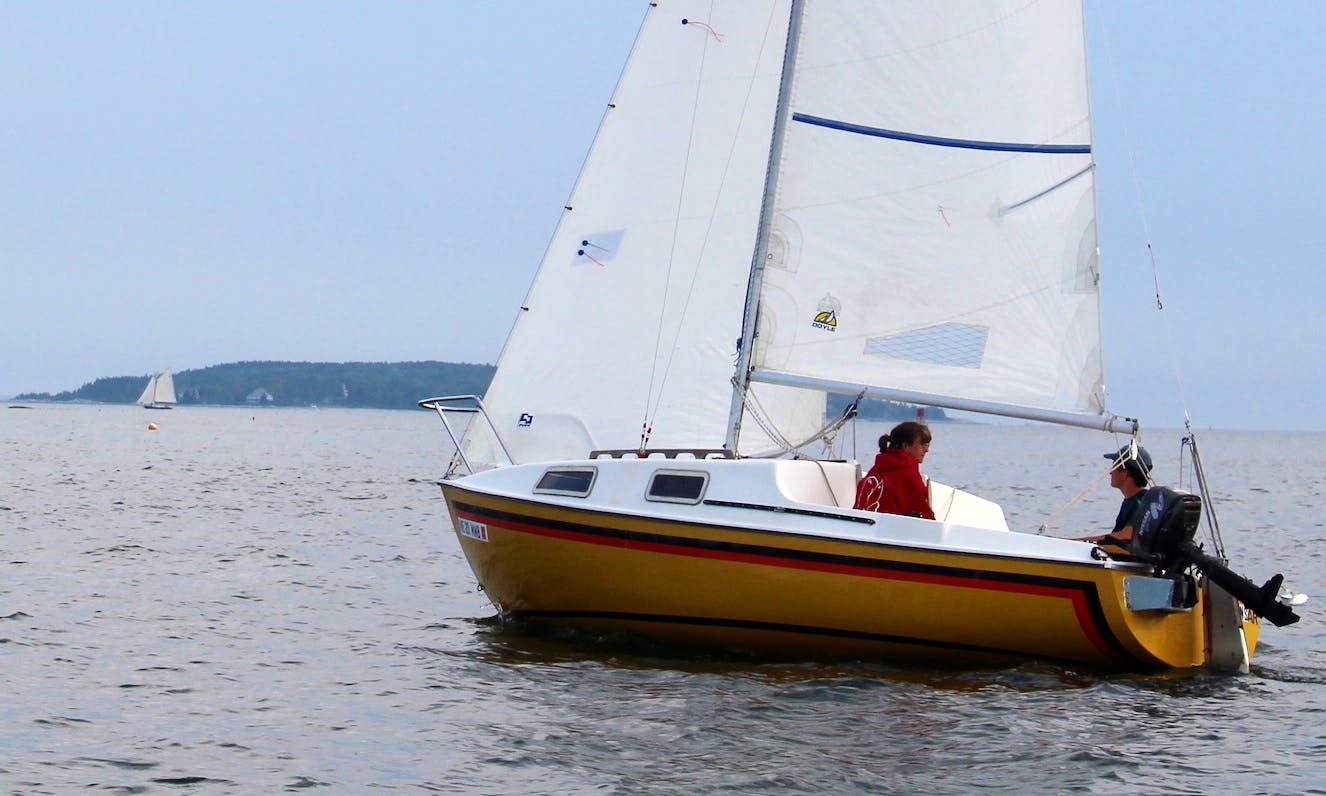 Enjoy a Day of Sailing for 4 People on Boothbay Harbor!