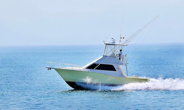 Cabo 35 Yellow Sport Fisherman Fishing Charter in Puerto Vallarta, Mexico