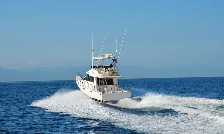 Meditarranean 38 Sport Fisherman Fishing Charter in Puerto Vallarta, Mexico