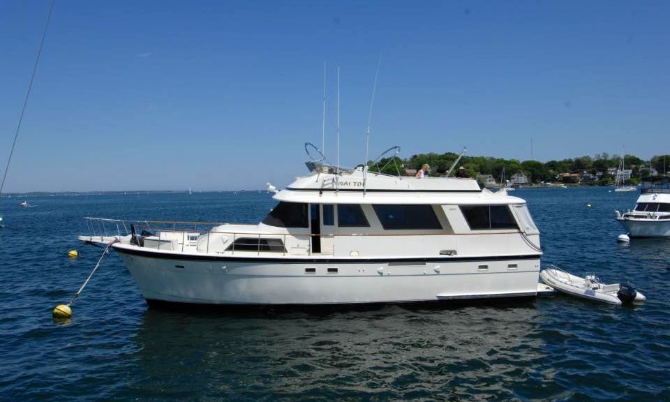 56' Hatteras Motor Yacht Charter in Boston