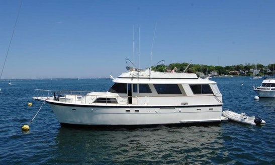 56' Hatteras Charter Yacht In E. Boston