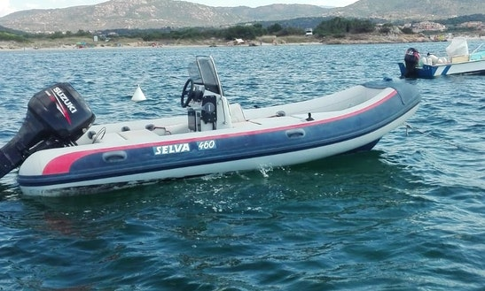 40 Hp Suzuki Rib Rental In Marina Maria Beach, Murta Maria, Italy