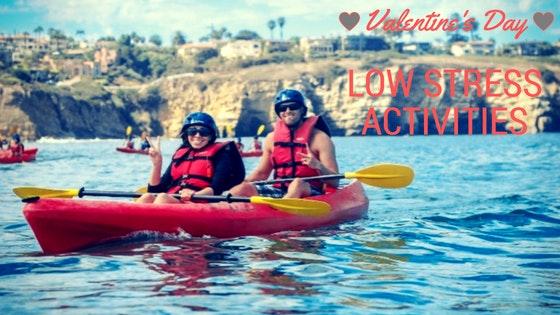 Couple kayaking in Cornado