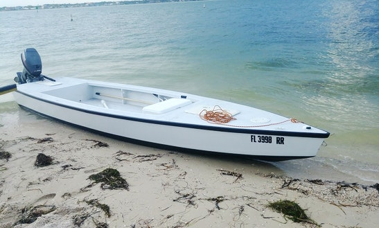 18ft Flats Boat 4 Inch Draft Hells Bay Glades Skiff