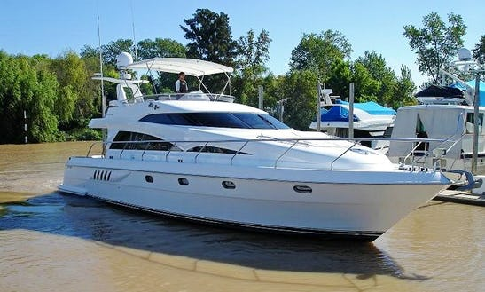 Cruise Along The Buenos Aires, Argentina With This Primavera 58 Power Mega Yacht