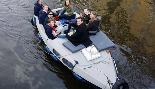 Easy To Steer Canal Boat For Rent In Amsterdam